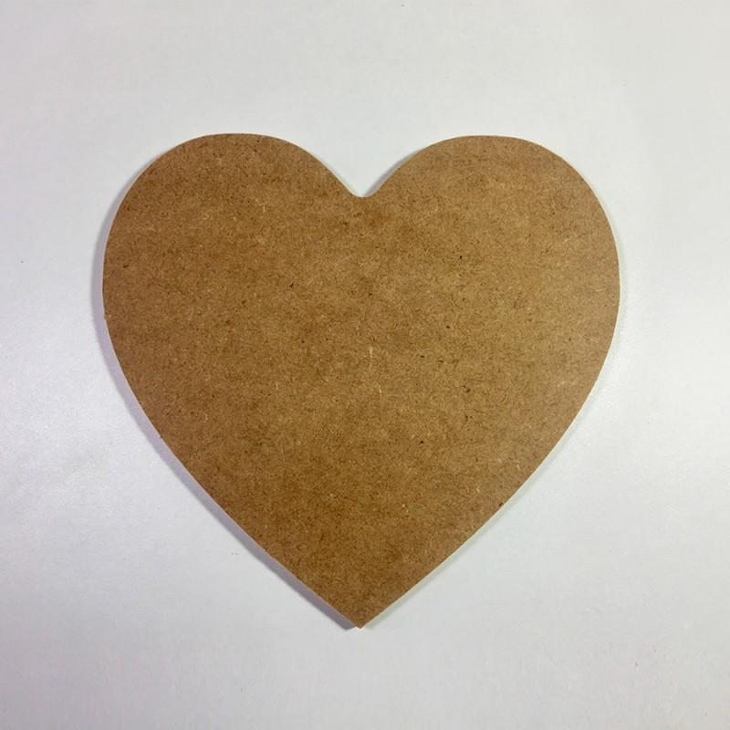 Forme cœur en bois à décorer