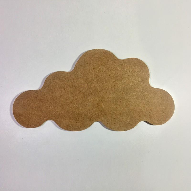 Forme nuage en bois à décorer