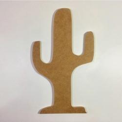 Forme cactus en bois à décorer