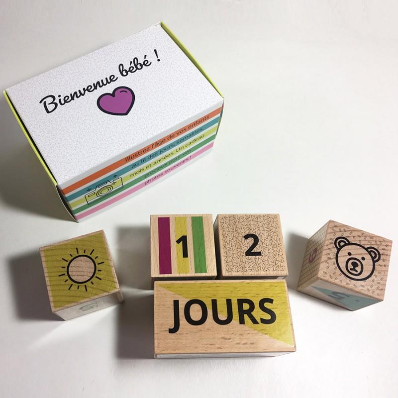 Coffret cubes de naissance Camille