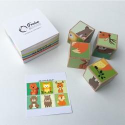 Puzzle en bois Martine - Animaux de la forêt