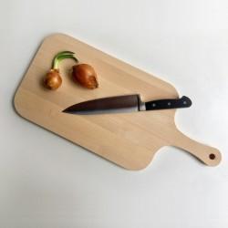 Planche à découper rectangulaire avec rigole et poignée 55 x 25 cm - Arrière