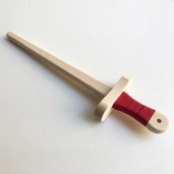 Épée en bois 50cm à décorer - Rouge