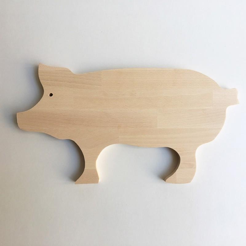 Norbert - Planche à découper bois en forme de cochon