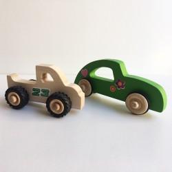 Henry le Pickup et Diane la voiture en bois avec stickers décoration - Photo 2