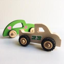 Henry le Pickup et Diane la voiture en bois avec stickers décoration - Photo 1