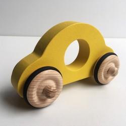 Petite voiture Anatole - Couleur Jaune - Jouet en bois - Photo 1