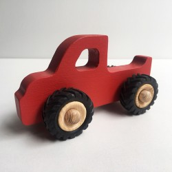 Henry le Pick-up en bois - Couleur rouge - Jouet en bois - Photo 1