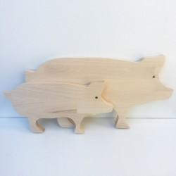 Planches à découper en forme de cochons 47 et 34 cm - Photo 1