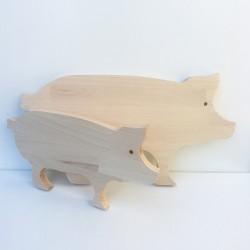 Planches à découper en forme de cochons 47 et 34 cm - Photo 2