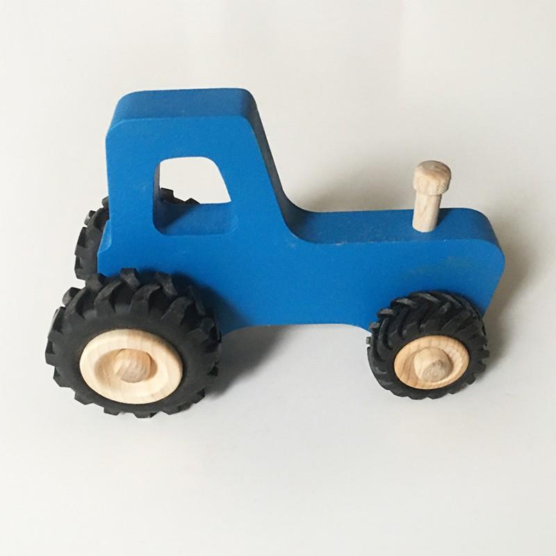 Joseph le petit tracteur - Bleu - Jouet en bois - Photo 3