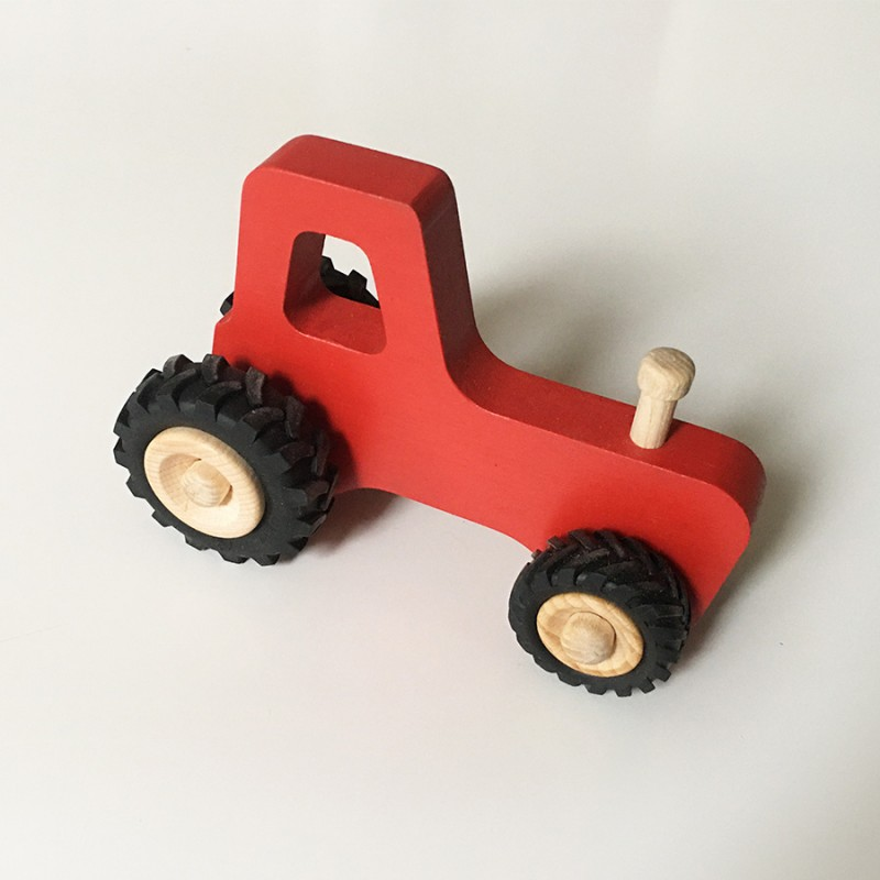 Joseph le petit tracteur - Rouge - Jouet en bois - Photo 1