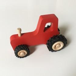 Joseph le petit tracteur - Rouge - Jouet en bois - Photo 3