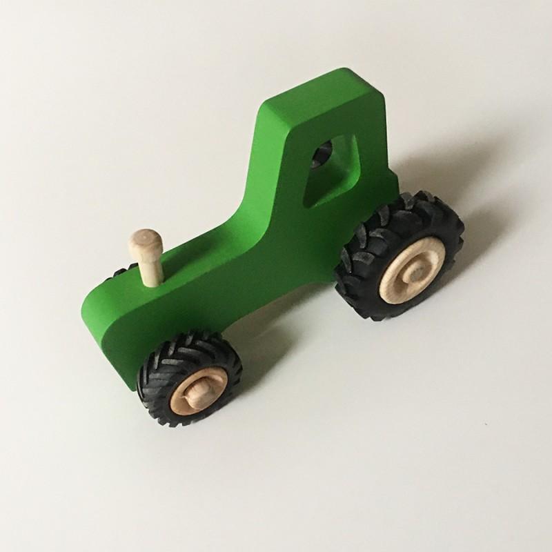Joseph le petit tracteur - Vert - Jouet en bois - Photo 1