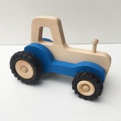 Serge le tracteur - Bleu - Jouet en bois - Photo 1