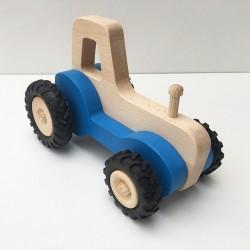 Serge le tracteur - Bleu - Jouet en bois - Photo 2