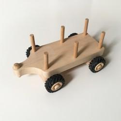 Remorque pour Serge le tracteur en bois - Char à foin - Double essieu - Photo 2
