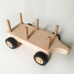 Remorque pour Serge le tracteur en bois - Char à foin - Double essieu - Photo 1