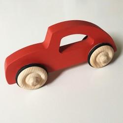 Diane la voiture style rétro chic - Version Rouge - Jouet en bois - Photo 1