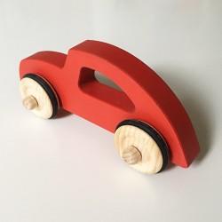 Diane la voiture style rétro chic - Version Rouge - Jouet en bois - Photo 3