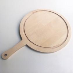 Planche à découper ronde avec rigole et poignée 50 x 35 cm - Photo 1