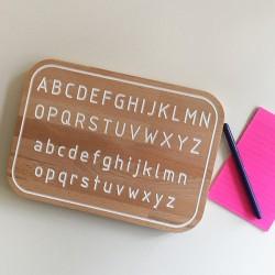 Simone, la planche Alphabet de traçage Montessori en bois - Photo 2