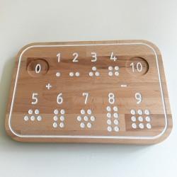 Simone, la planche de traçage des nombres Montessori en bois - Photo 2