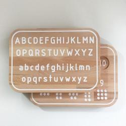 Simone, lot planche de traçage des nombres + planche Alphabet Montessori en bois - Photo 1
