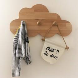Jeanne la patère nuage en bois - 3 crochets - Photo 1