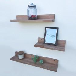 Louise - Tablettes et étagères murales en bois sans rebord - Exemple déco n°1
