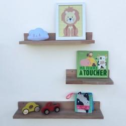 Louise - Tablettes et étagères murales en bois sans rebord - Exemple déco n°2