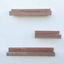 Louise - Tablettes et étagères murales en bois avec rebord
