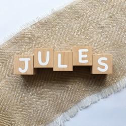 Cubes prénom naissance en bois - Lettres blanches - Photo 2