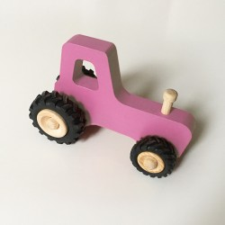 Joseph le petit tracteur - Rose - Jouet en bois - Photo 2