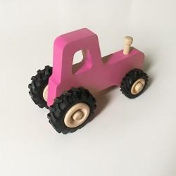 Joseph le petit tracteur - Rose - Jouet en bois - Photo 3