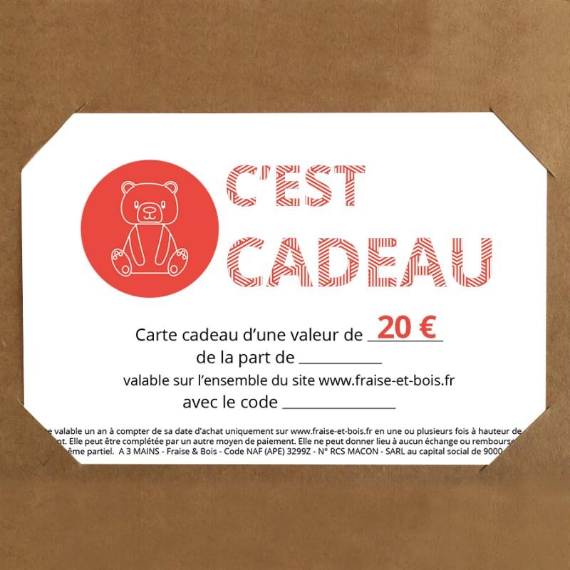 Carte cadeau à offrir - Fraise et Bois - 20€