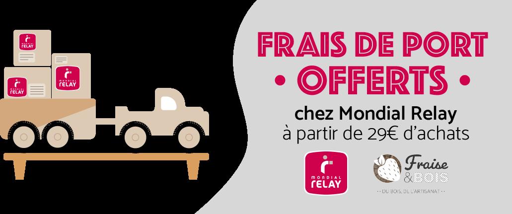Bannière Fraise & Bois Livraison gratuite Mondial Relay