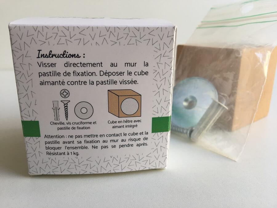 Instructions montage cube aimanté Matthias