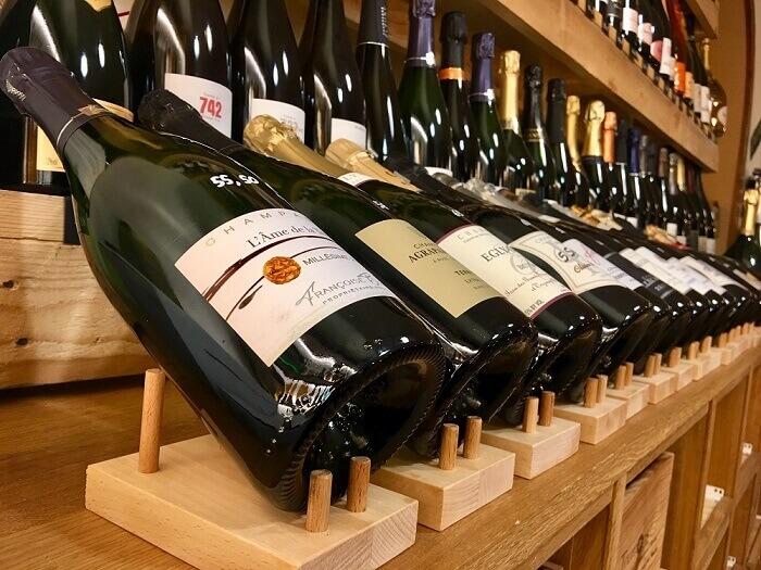 Exemple d'utilisation supports bouteille à vin par une professionnel