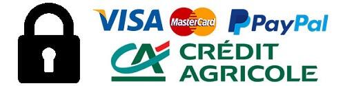 Logos paiement site Fraise & Bois